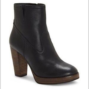 NWT Lucky Brand Leather Platform Block Heel Boot